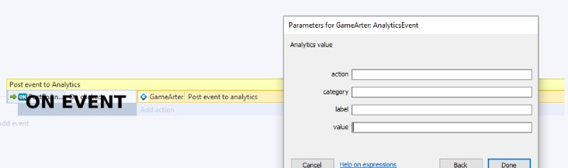 gamearter sdk for Construct - Analytics